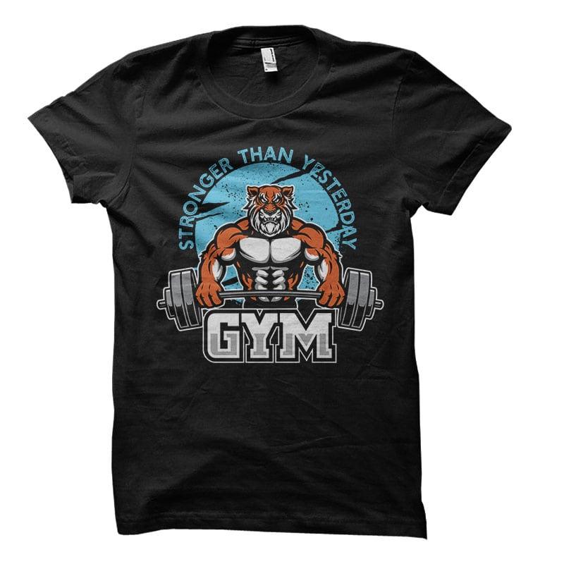 Tiger gym Vector t-shirt design buy t shirt design