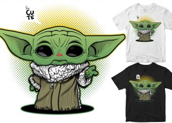 Cute Baby Yoda t shirt design for purchase