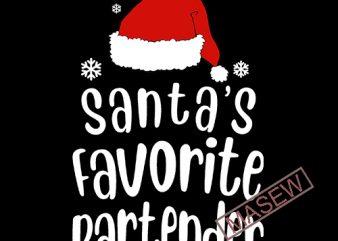 Bartender SVG, JPEG Silhouette Cameo Cricut Christmas svg santa svg iron on Santa's favorite Bartender Christmas shirt new Bar svg, Drinking vector t-shirt design for commercial use