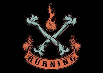 burning tshirt design