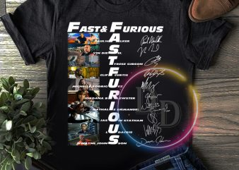 Fast & Furious Anniversary 9 Years T shirt