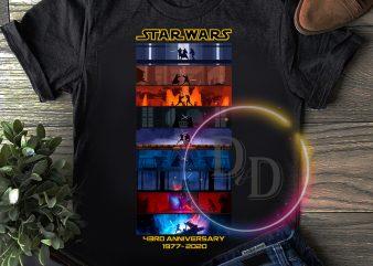 Star wars 43 rd Anniversary 43 years of 1977-2020 T shirt Funny