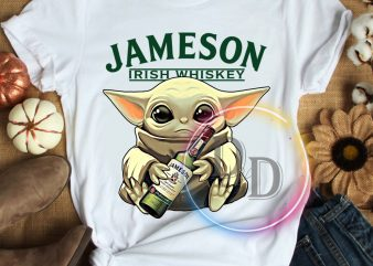 Yoda Jameson rish whisky funny star wars T shirt