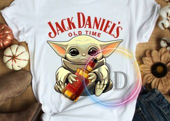 Yoda Jack Daniels old time funny Star wars T shirt