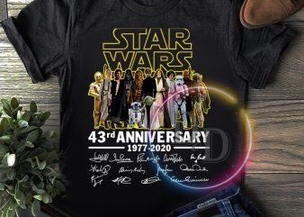 Star wars 43 rd Anniversary 43 years of 1977-2020 T shirt