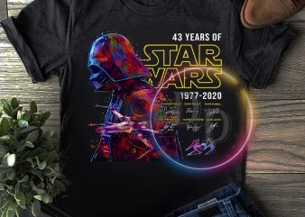 Vader Star wars 43 rd Anniversary 43 years of 1977-2020 T shirt