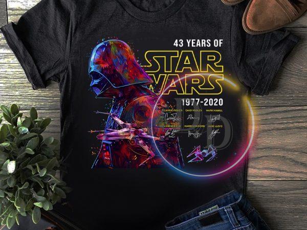 Vader Star wars 43 rd Anniversary 43 years of 1977-2020 T shirt