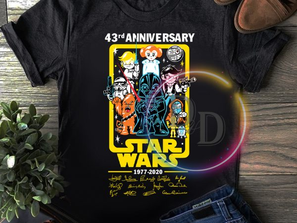 Star wars Chibi 43 rd Anniversary 43 years of 1977-2020 T shirt