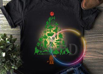 Star War Pine Tree Merry Christmas T shirt