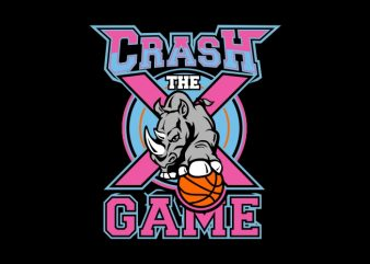crash the game t shirt vector file
