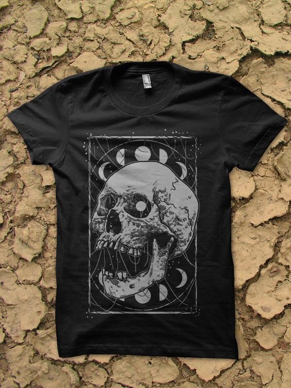 detailed skull bundle tshirt design
