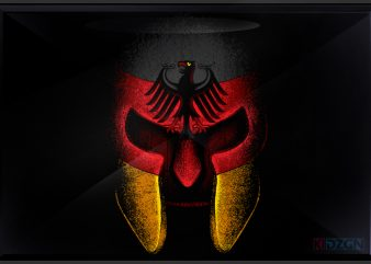 Deutsch spartan t shirt vector illustration