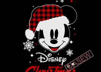 Disney Christmas svg, Buffalo plaid svg, Plaid svg, Christmas svg, Disney svg, Mickey svg, Mickey mouse svg, Snow svg, Quote svg t shirt vector illustration