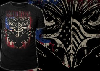 PATRIOTIC EAGLE buy t shirt design for commercial use