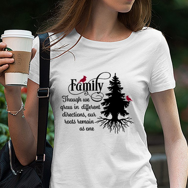 Family Like Branches On A Tree We All Grow In Different Family Svg Png Dxf Eps Digital Download Tshirt Design Vector Buy T Shirt Designs