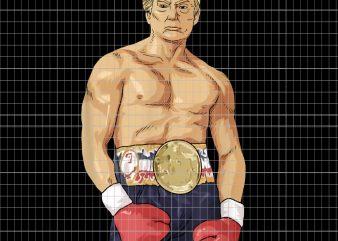 Donald Trump American Boxing Heavyweight Champion Merica t shirt vector illustration