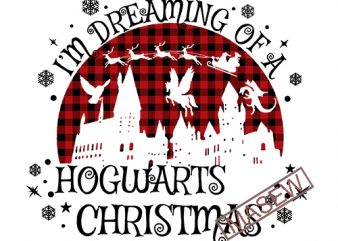 I'm dreaming of a Hogwarts Christmas Harry Potter verse, Christmas, Buffalo Plaid, INSTANT DOWNLOAD t shirt design for sale