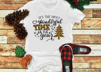 It's The Most Wonderful Time Of The Year Leopard Christmas PNG buy t shirt design artwork