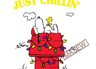 Just Chillin' Snoopy, Charlie Brown, Christmas, Christian EPS DXF PNG SVG Digital Download vector clipart