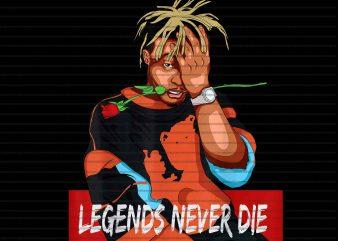Legends Never Die Original Juice Rose Rap Singer t-shirt design for commercial use