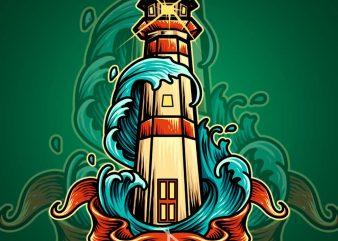 lighthouse tshirt design