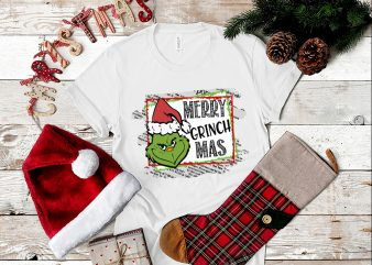 Merry Grinch Mas PNG, Funny Grinch Christmas PNG t shirt designs for sale