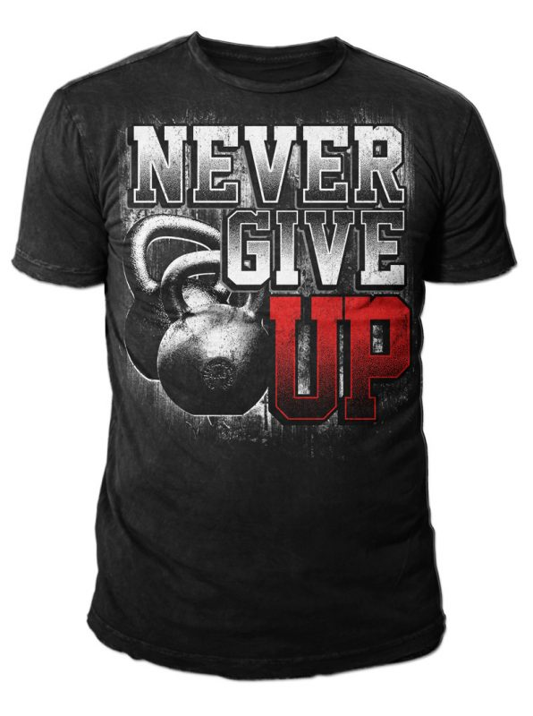 NEVER GIVE UP vector shirt designs