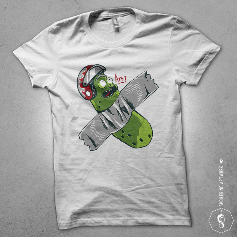 pickle taped Graphic t-shirt design tshirt-factory.com