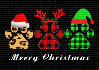 Paw dogs merry christmas,christmas dog lovers buy t shirt design artwork
