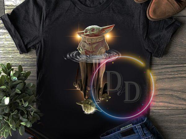 Yoda child water reflect Yoda Star war T shirt