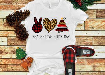 Peace Love Christmas PNG, Christmas Tree PNG, Nurse Christmas PNG buy t shirt design
