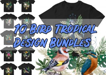 10 Bird tropical design Bundles