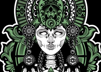 Devil goddes Mythology t shirt vector illustration