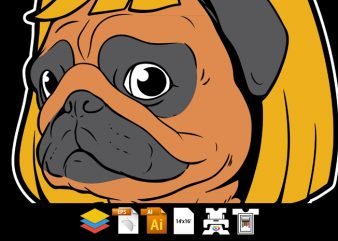 Pug Dog Man – Vector T-shirt Design
