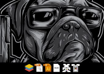 Pug Dog Nator – Vector T-shirt Design