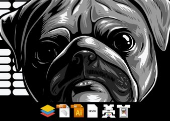 Pug the Mob – Vector T-shirt Design