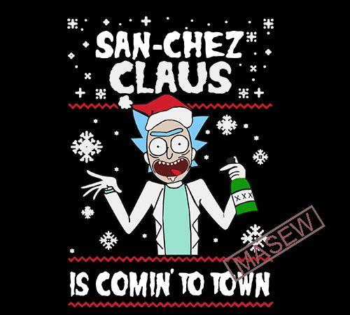 San Chez Claus Is Comin To Town Rich Sanchez Cartoon Svg Dxf Png Eps Digital Download Print Ready Vector T Shirt Design Buy T Shirt Designs