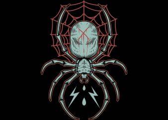 deadly spider tshirt design