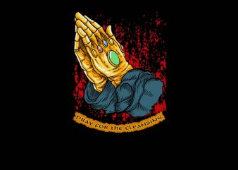 Pray For The Cleansing t shirt illustration