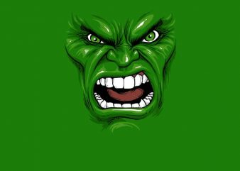 Hulk Face graphic t shirt