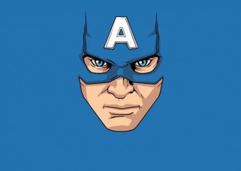 Captain America Mask t shirt vector file