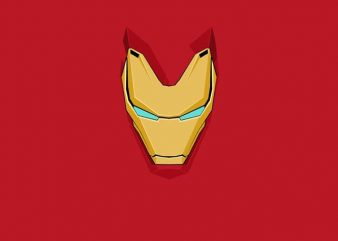 Iron Man Mask t shirt design for sale