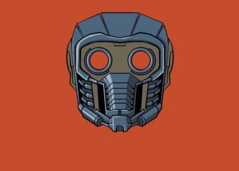 Star Lord Face t shirt template vector