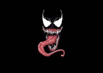 Venom Mask t shirt vector art