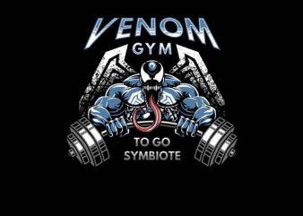Venom Gym buy t shirt design for commercial use