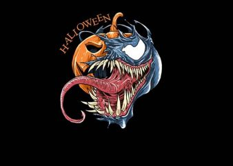Venom Halloween t shirt vector art