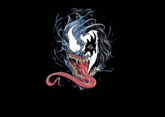 Venom Kiss t shirt vector art