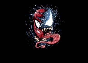 Venom VS Spiderman t shirt vector art