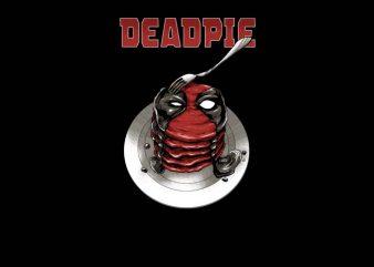 Deadpie t shirt vector illustration