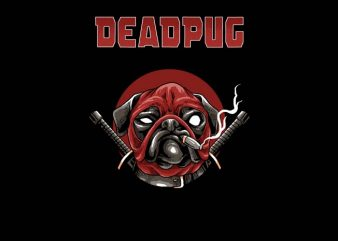 Deadpug t shirt vector illustration